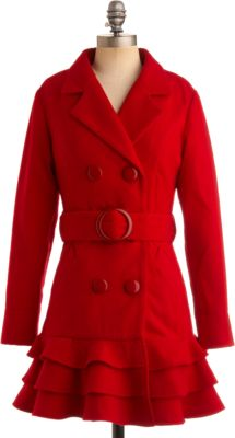 pea coats are the best...love the ruffle