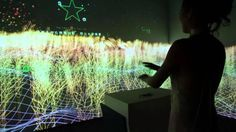 Heineken Pioneering Bar mere projection mapping using LEAP MOTION