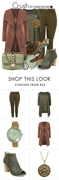 """""""Crush"""" by leslieakay ❤ liked on Polyvore featuring New Look, Skagen, Steve Madden, Animal Planet, disney, disneybound and plussize"""