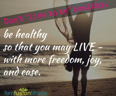 Be healthy so that you can live! Change your life with support from a community…