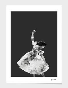 """Angel Ballerina"", Numbered Edition Affiches d'art by ümmühan türk - From 25,00€ - Curioos"