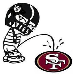 Oakland Raiders piss on San Francisco 49ers