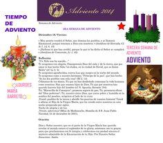 ORACIÓN. Diciembre 19º, VIERNES 2014. 3RA SEMANA DE ADVIENTO ҉҉LOURDES MARÍA BARRETO҉҉