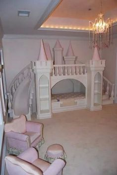 Most Design Ideas Princess Bedrooms For Girls Pictures, And Inspiration – Modern House Idéias Para Mobília 🏠 Princess Castle Bed, Princess Bedrooms, Princess Room, Princess Tower, Pink Castle, Pink Princess, Baby Bedroom, Girls Bedroom, Cinderella Room