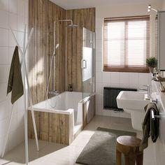 Badewanne Und Dusche In Einem! Super Praktisch Und Ideal Fürs Kleine  Badezimmer. Bildmaterial (