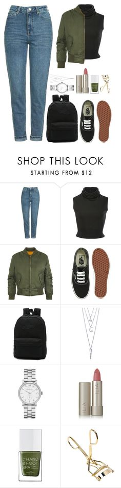 """Sin título #42"" by ceciliaaanne ❤ liked on Polyvore featuring beauty, Topshop, Brandon Maxwell, WearAll, Vans, BERRICLE, Marc by Marc Jacobs, Ilia and The Hand & Foot Spa"