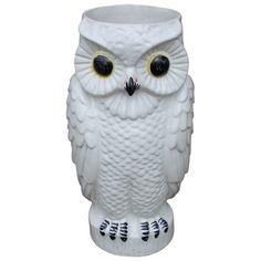 Vintage Ceramic Owl Umbrella Stand