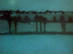 William Degouve de Nuncques (Belgian, 1867-1935), Effet de nuit, 1896. Pastel on paper. Musée d'Ixelles, Brussels
