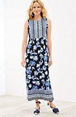 plus size floral Empire-waist maxi dress | J.Jill