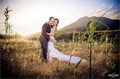 Bride Sari in her Eden dress by Maggie Sottero