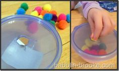 toddler stuff - stuffing pom poms, pipe cleaners, magnetic fishing