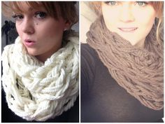 DIY: Rundschal⎟Armstricken