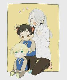 Sooo cute...!!!  #viktornikiforov #yuri #yurio #yaoi #viktuuri #love #yurionice #kiss #otp #family
