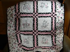 my favorite   a cow quilt with ragged designs