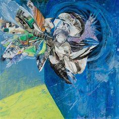 "Demetra Tassiou, ""Inception"" | Acrylic & Mixed Media on Panel | $4,000 | Source: http://www.art-mine.com/artistpage/demetra_tassiou.aspx | Agora Gallery | Contemporary Fine Art | NYC, NY."