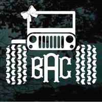 This Jeep monogram is the perfect accessory for any Jeep girl!