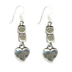 Danon Cube and Heart Earrings