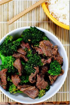 Broccoli Beef is one of my favorite Chinese dishes to make at home. So good, you'll never order takeout again! | iowagirleats.com