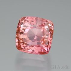 "Sri Lanka is perhaps the most famous source for padparadscha #sapphires. Padparadscha means ""lotus flower"" in Sinhalese and this name has been given to the pinkish orange to orange-pink variety of corundum. This sapphire's color has been likened to the color of salmon, sunsets and ripe guava. Do you know how padparadscha gets its unique color? Photo: Robert Weldon/GIA, Dr. Eduard J. Gübelin Collection"