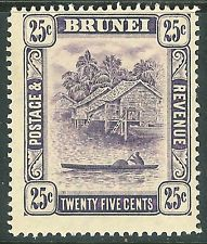 Brunei 1908 deep-dull-purple 25c mint