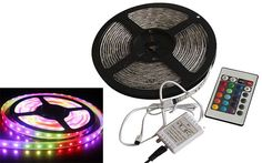 Flexibele LED-strip kleur met remote (180 LED's, 3m) (Grundig)#grundig #lichtslang #ledstrip #flexibele kleurenledstrip