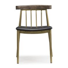 Industrial design meets modern perfection with the Loma Prieta collection. Handcrafted from solid pine, this dining chair is a great fit for any setting. The elegant brushed brass adds modern allure.