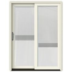 Jeld-Wen W-2500 59.25-In Blinds Between The Glass French Vanilla Wood