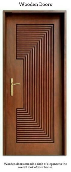 Solid wood doors are good if you reside in a period home, or simpl. Solid wood doors are good if you reside in a period home, or simply just want to add timeless charisma Modern Wooden Doors, Wooden Main Door Design, Front Door Design, Wooden Gates, Modern Door, Modern Exterior, Door Design Interior, Interior Barn Doors, Exterior Doors