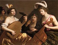 LE CONCERTE  (1635-40)  Laúd y viola da gamba  Jan Hermansz van Bijlert (1597-1671) was a Dutch painter whose style was influenced initially by Caravaggio.