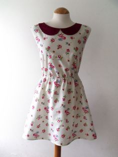 Peter Pan Collar Dress | Floral dress peter pan collar dress summer dress - Folksy