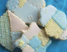 #Pastel patchwork #quilt #cookies  by Kimbo's Cookies