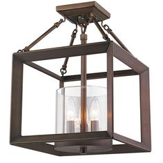 Foyer-- Need One $250--Modern Geometry Convertible Semi-Flush Ceiling Light
