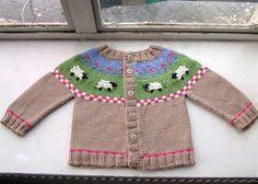 Sheep Yoke Baby Cardigan-  by Jennifer Little- free