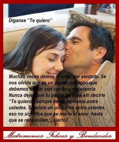 "Decir siempre ""Te Quiero"" #Amor #Tequiero #AmorEterno #Amordemivida #MatrimoniosFelicesyBendecidos"