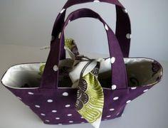 PDF Reversible Contrast Tied Tote Bag sewing pattern