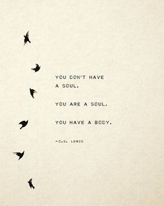CS Lewis quote print you dont have a soul you are a soul poetry art gift for her soul Organisch Soul Poetry, Poetry Art, Rumi Poetry, Poetry Books, Favorite Quotes, Best Quotes, Funny Quotes, The Words, Words Quotes