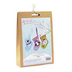 DIY craft kit which creates three socks with festive patterns. Patterns include a snowman, penguin and Santa. Great for people who enjoy being creative. Craft Kits, Diy Kits, Craft Projects, Christmas Crafts, Christmas Decorations, Christmas Ornaments, Fun Crafts, Crafts For Kids, Xmas Gifts