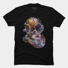 Pop Art Steampunk Diver's Helmet T Shirt By #StrangeStore Design By Humans