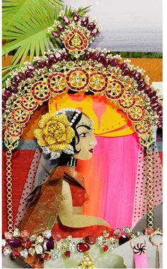 vintage artwork from India Paper Pop, Amazing India, Vintage India, Art For Art Sake, Vintage Artwork, Tribal Art, Paper Piecing, Collage Art, Folk Art