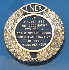 Mallard Record Plate 01 - LNER Class A4 4468 Mallard - Wikipedia, the free encyclopedia