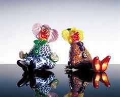 Вернемся в детство: веселые клоуны из муранского стекла. А у вас остались какие-то воспоминания о цирке?