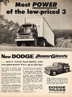 1957 Dodge Tractor/Trailer Truck and Pickup | Flickr - Photo Sharing!