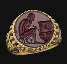 Roman Jasper Ringstone, c. 1st-2nd Century AD The... at Ancient & Medieval History