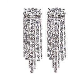 Crystal Chandelier Drop Earrings Silver or Gold ($13) ❤ liked on Polyvore featuring jewelry, earrings, yellow gold earrings, gold jewelry, silver drop earrings, chandelier earrings and earring jewelry