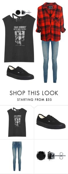 """""""Ziggy Stardust"""" by morriemac ❤ liked on Polyvore featuring R13, Vans, Yves Saint Laurent, BERRICLE and Rails"""