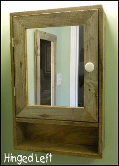 vintage ornate shabby chic medicine cabinet   mirror Ladies Powder Room shabby chic powder room sign