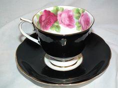 Vintage Royal Albert English Rose Bone China Black Tea Cup Saucer England | eBay