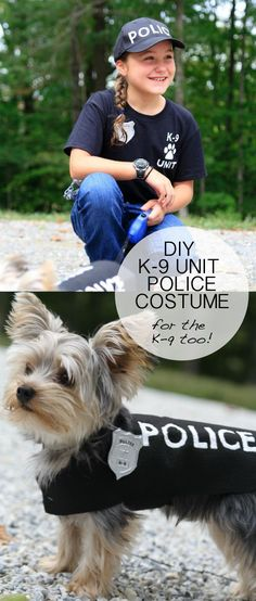 We love this DIY dog Halloween costume idea from Ashley Hackshaw! Make your pup the sidekick to an awesome DIY kid Halloween costume.