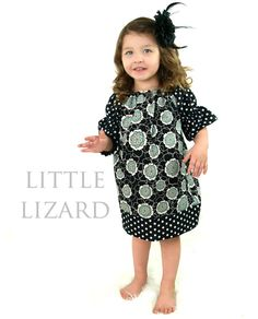 Peasant Dress PATTERN GIrls Long/Short Sleeve by littlelizardking, $7.00