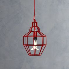 Perfect for over my kitchen workspace!  Riviera Small Red Pendant Lamp    Crate